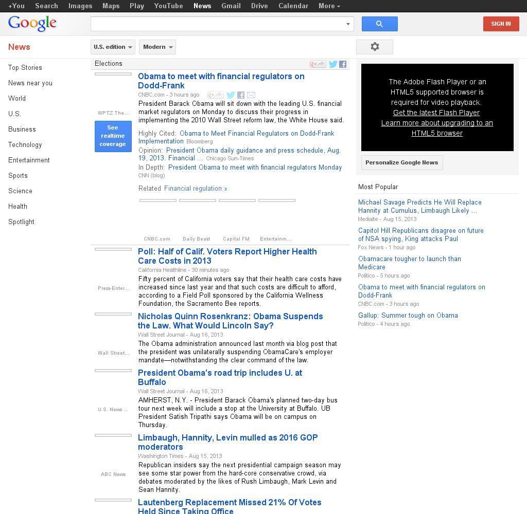 Google News: Elections