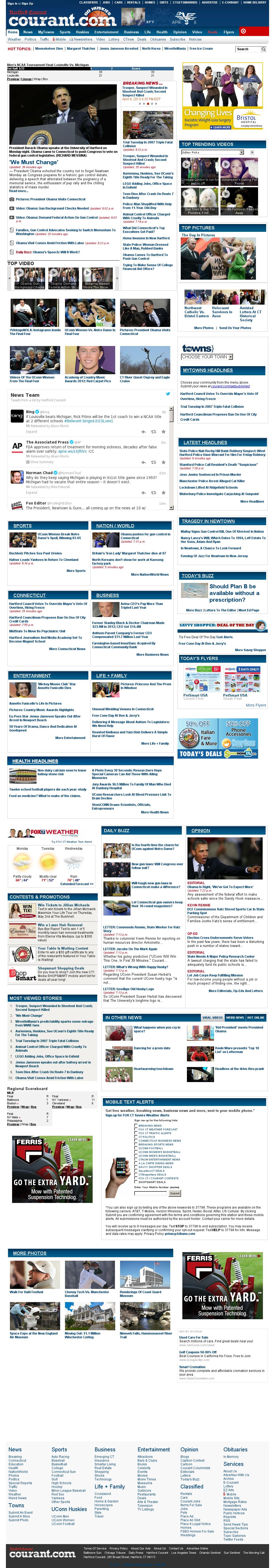 Hartford Courant at Tuesday April 9, 2013, 2:09 a.m. UTC