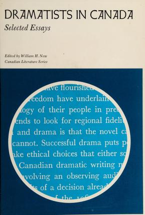 Cover of: Dramatists in Canada | William H. New