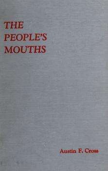 Cover of: The people's mouths   Austin Fletcher Cross